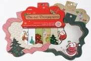 "Paper Pad 6""x6""- Die Cut Designpapers 18 ark - Christmas Is Coming - With Glitter"