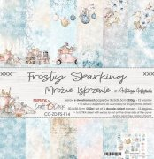 Paper Pack Craft Clock - Frosty Sparkling - 12x12 Tum