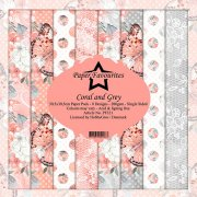 Paper Pack Dixi Craft - Coral and Grey