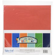 Paper Pack Echo Park - It's Your Birthday Blue - Solids