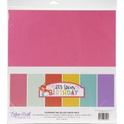 Paper Pack Echo Park - It's Your Birthday Pink - Solids
