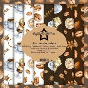 Paper Pack Paper Favourites - Watercolor Coffee - 12x12 Tum