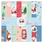 Paper Pack Papermania - At Home with Santa - 12x12 Tum