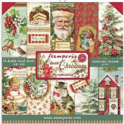 Paper Pack Stamperia - Classic Christmas - 8x8 Tum