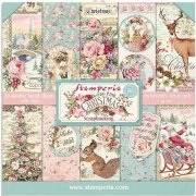 Paper Pack Stamperia - Pink Christmas - 12x12 Tum