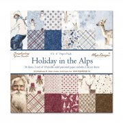 "Paper Pad 6""x6"" Maja Design - Holiday in the Alps - 36 ark"