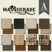 Paper Pad Authentique - Masquerade - 6 x 6 Tum