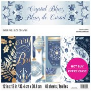 Paper Pad Craft Smith - Crystal Blues - 12x12 Tum