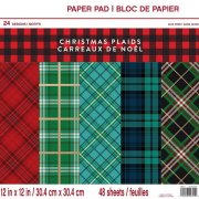 Paper pad Craft Smart - Christmas Plaids - 12x12 Tum