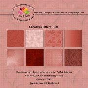 Paper Pad Dixi Craft 6x6 - Christmas Pattern Red