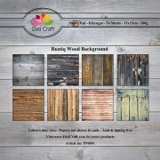 Paper Pad Dixi Craft 6x6 - Rustiq Wood Background - 24 ark