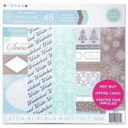 Paper Pad 12x12 - Craft Smith - Ice Crystals - 48 ark