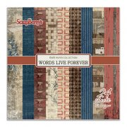 Paper Pad 6x6 - ScrapBerrys - Words Live Forever