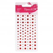 Rhinestones Red - Papermania 104 st
