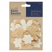 Papermania Bare Basics Burlap Blooms - 40 st