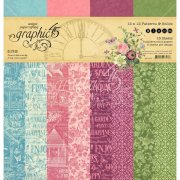 Paper Pack 12x12 Graphic 45 - Bloom - Patterns & Solids