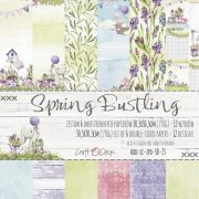 Paper Pack Craft Clock - Spring Bustling - 12x12 Tum