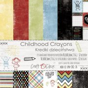 Paper Pack Craft O Clock - Childhood Crayons - 12x12 Tum