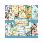 Paper pack Stamperia - Flowers for You - 8x8 Tum