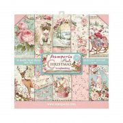 Paper pack Stamperia - Pink Christmas - 8x8 Tum