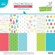 Paper Pad 12x12 - Lawn Fawn - Really Rainbow Christmas