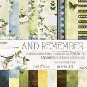 Paper pad 6x6 - Craft Clock - ...And Remember - 18 ark