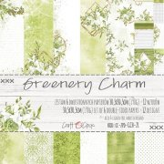 Paper Pad Craft Clock - Greenery Charm - 12x12 Tum