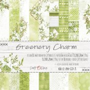 Paper Pad Craft Clock - Greenery Charm - 6x6 Tum