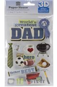 3D Stickers Glitter - Dad - Paper House