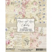 Papper Pad Reprint - Music and Roses - 6x6 Tum