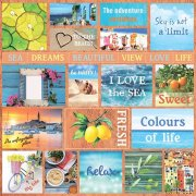 Papper ScrapBerrys - Mediterranean Dreams - Cards 1