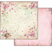 Flower Alphabet Pink Nest Stamperia Scrapbooking