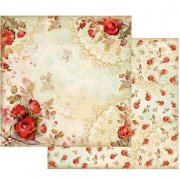 Red Roses Stamperia Scrapbooking