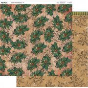 Papper 12x12 Couture Creations - Highland Christmas - Julbär