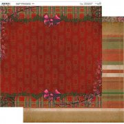 Papper 12x12 Couture Creations - Highland Christmas - Julrosett