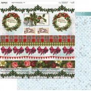 Papper 12x12 Couture Creations - Highland Christmas - Klippark 01