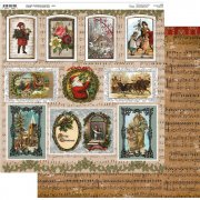 Papper 12x12 Couture Creations - Highland Christmas - Klippark 02