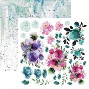 Papper 13 arts 12x12 - Aqua Flora - Colors of summer