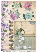 Papper 13 arts A4 - Vintage Summer - Vintage flowers