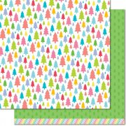 Papper Lawn Fawn - Really Rainbow Christmas - Pine Tree Green