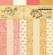 Papperpack 12x12 Graphic 45 - Pattern & Solid - Princess