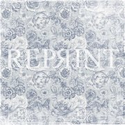 Papper Reprint - Dusty Blue - Big Roses