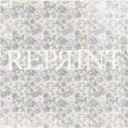 Papper Reprint - Dusty Blue - Small roses