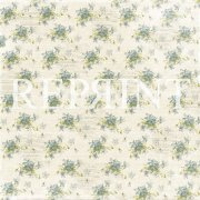 Papper Reprint - Dusty Blue - Spring Flowers