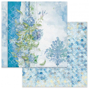 Papper Stamperia - Flowers For You Light Blue Background