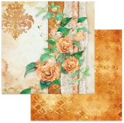 Papper Stamperia - Flowers For You Ocher Background
