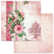 Papper Stamperia - Flowers For You Pink Background