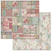 Papper Stamperia - Wallpaper With Patchwork