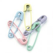 Mini Painted Safety Pins - Pastel 50 st