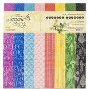 Paper Pack Graphic 45 - Fashion Forward Patterns & Solids